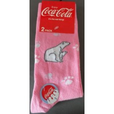 Polar bear Jeans socks pink' 2-pack size 35-38'